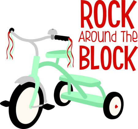 Use this image of a tricycle in your childs design.