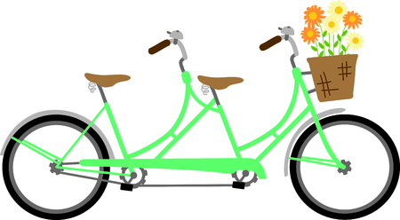 childs: Use this image of a bike in your childs design. Illustration