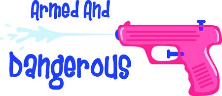 Utilice esta imagen de una pistola de agua en el diseño de su hijo. Foto de archivo - 43784242