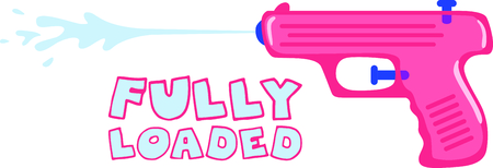 squirt: Use this image of a water gun in your childs design.