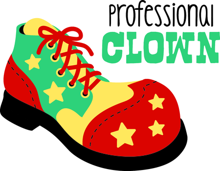 Get this circus shoe image for your next design.