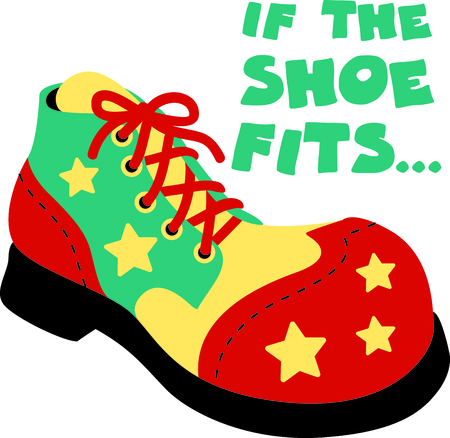 comedian: Get this circus shoe image for your next design.