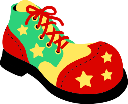 oversize: Get this circus shoe image for your next design.
