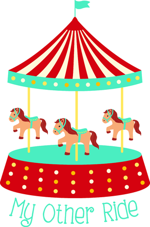 Get this circus carousel image for your next design. Фото со стока - 43784359