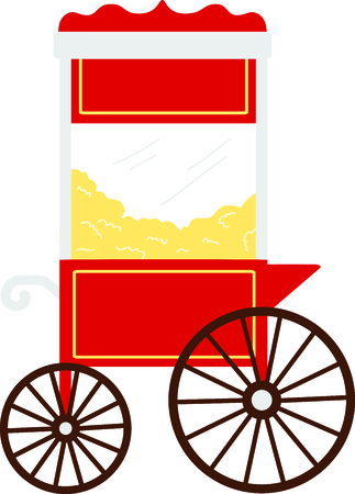 Get this circus popcorn cart image for your next design.