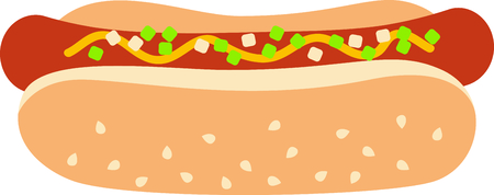 wiener: Get this circus hot dog image for your next design. Illustration