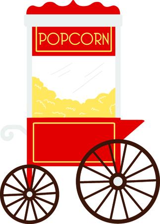 salty: Get this circus popcorn cart image for your next design.
