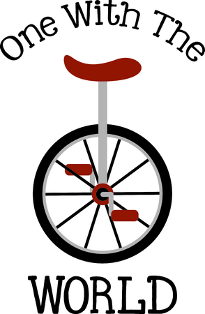 one wheel bike: Use this image of unicycle in your design.