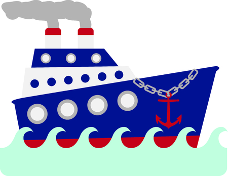 Use this image of a giant ship in your design.