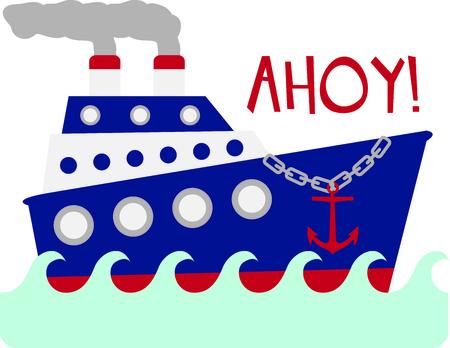 Gebruik dit beeld van een gigantische schip in uw ontwerp.