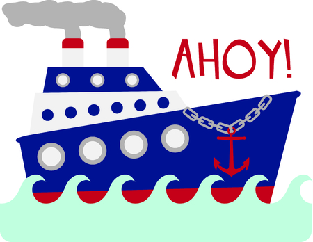 ahoy: Use this image of a giant ship in your design.