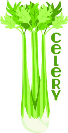 Use this image of a celery plant in your gardening design.