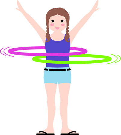 Use this image of a hula hoop in your design.