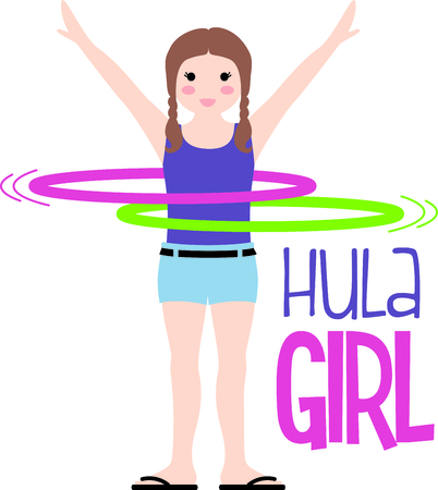 hula: Use this image of a hula hoop in your design.