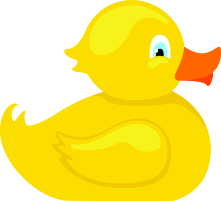 bathtime: Use this image of a duck in your design. Illustration
