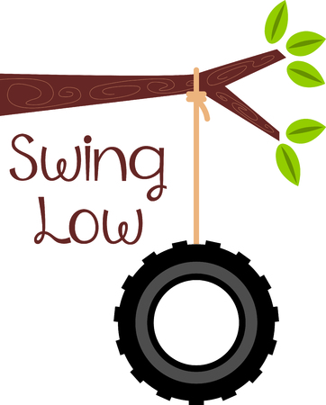 low tire: Use this image of a tire swing in your design.