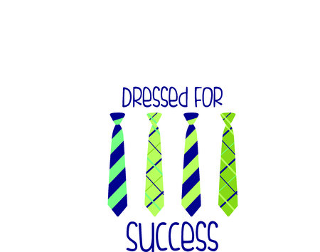 Use this image of ties in your Fathers Day design. Иллюстрация