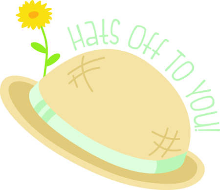 Use this image of a garden hat in your design.