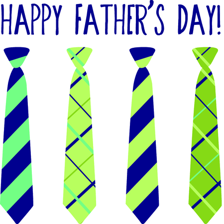 windsor: Use this image of ties in your Fathers Day design. Illustration