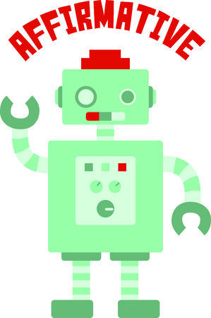 affirmative: Little boys love to play with robots.  Use this design to make a perfect gift.