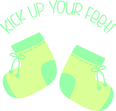 booty: Planning a baby shower will not be complete without this adorable design.  Add it to your favorite items for party favors.  They will love it! Illustration