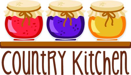 Zelfgemaakte koken is gewoon te goed te passeren. Breng wat zoete inspiratie aan uw keuken met dit ontwerp! Stockfoto - 43843024