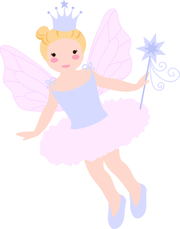 girl magic wand: Get this fairy image for your next design. Illustration
