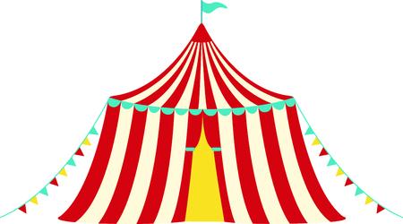 Laden Sie dieses Bild Zirkuszelt für Ihren Entwurf. Standard-Bild - 43843116