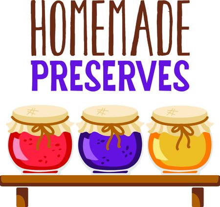 Zelfgemaakte koken is gewoon te goed te passeren. Breng wat zoete inspiratie aan uw keuken met dit ontwerp! Stock Illustratie