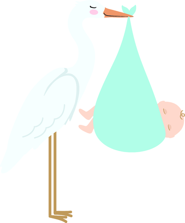 baby delivery: Planning a baby shower will not be complete without this adorable design.  Add it to your favorite items for party favors.  They will love it! Illustration