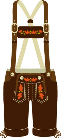 Lederhose is a cute design to celebrate Octoberfest. 일러스트