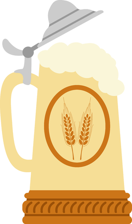 beer stein: The stein is a perfect design to celebrate Octoberfest. Illustration