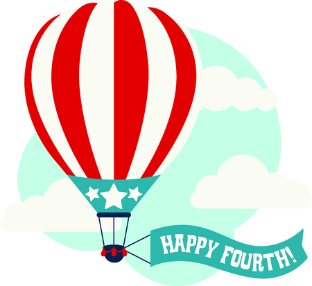 hopper: Celebrate our freedom on July 4th with this cute balloon!  Perfect on items for family and friends to celebrate this day.  They will love it!