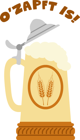 stein: The stein is a perfect design to celebrate Octoberfest. Illustration