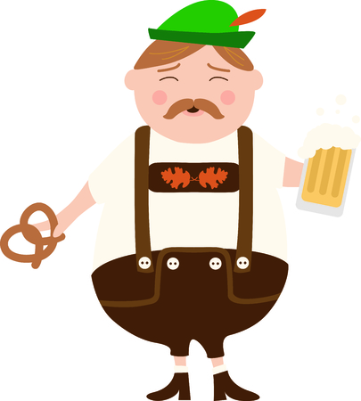 european alps: The German man is a perfect design to celebrate Octoberfest.