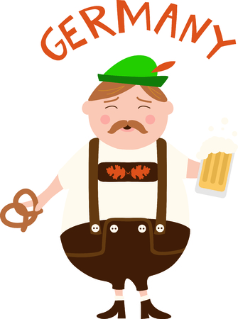 european culture: The German man is a perfect design to celebrate Octoberfest.
