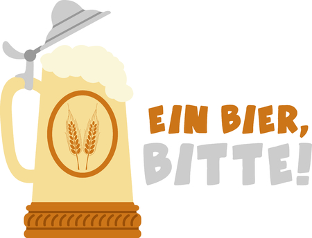 bier: The stein is a perfect design to celebrate Octoberfest. Illustration