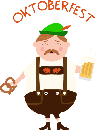 lederhosen: The German man is a perfect design to celebrate Octoberfest.