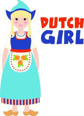 dutch: Remember the trip to Holland with this little Dutch girl.