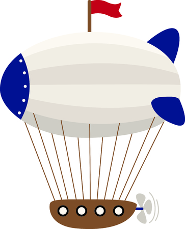 blimp: Use this image of a air ship in your childs design.