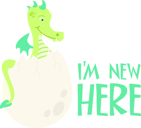 hydra: Use this image of a dinosaur in your childs design. Illustration