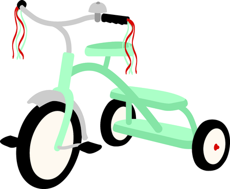 velocipede: Use this image of a tricycle in your childs design.