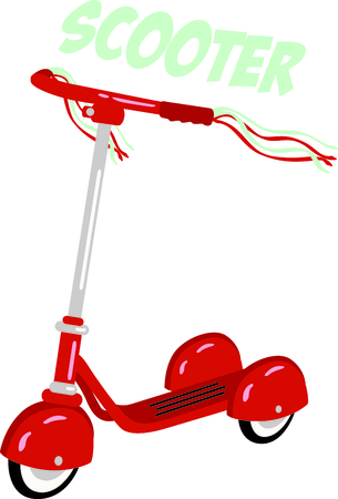 velocipede: Use this image of a scooter in your childs design.