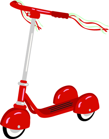 handlebar: Use this image of a scooter in your childs design.