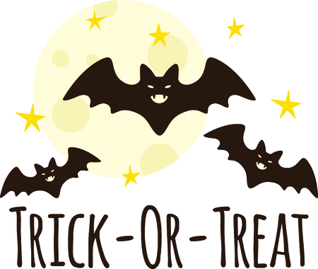 treat: This trick or treat with these spooky bats.  Happy Halloween.  Buy this as a special treat.  Your friends will love it!