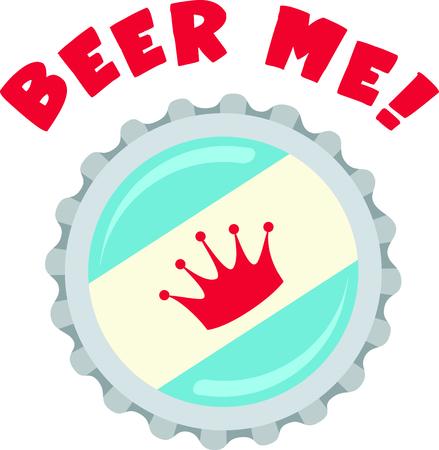Het is ergens 5 uur. Pak een biertje en kijken naar de wedstrijd. Stock Illustratie