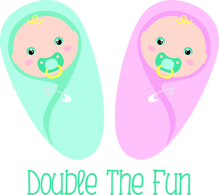 Planning a baby shower will not be complete without this adorable design.  Add it to your favorite items for party favors.  They will love it! Illustration