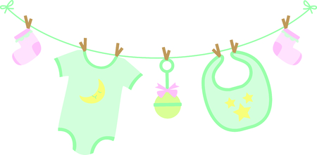 favors: Planning a baby shower will not be complete without this adorable design.  Add it to your favorite items for party favors.  They will love it! Illustration