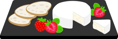 Get this great appetizer tray image for your catering business. Иллюстрация