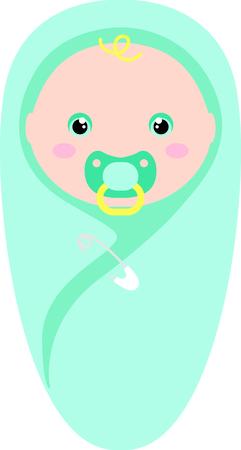 乳幼児: ベビー シャワーの計画はこの愛らしいデザインなしで完全されません。 それを党の好意のためのお気に入りのアイテムに追加します。 彼らはそれ  イラスト・ベクター素材